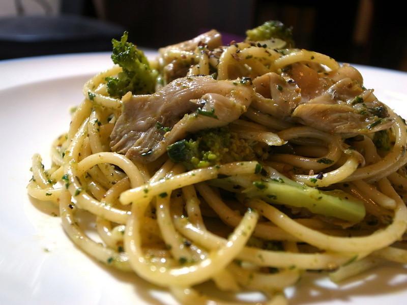 青醬野菇義大利麵