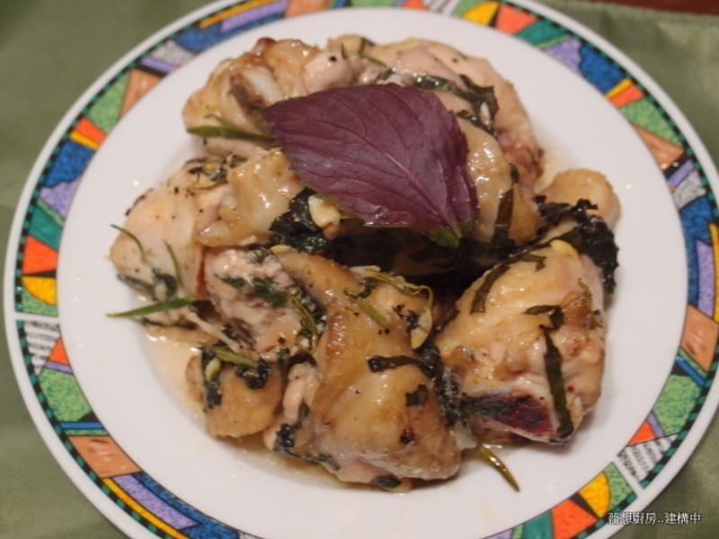 「得意的一天橄欖油」紫蘇香草烤雞