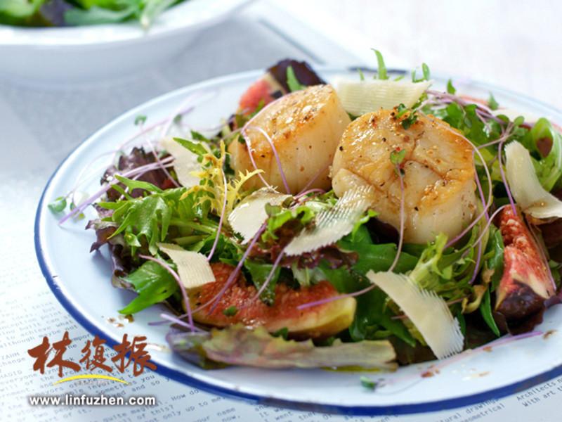 法式干貝溫沙拉 Salade tiède