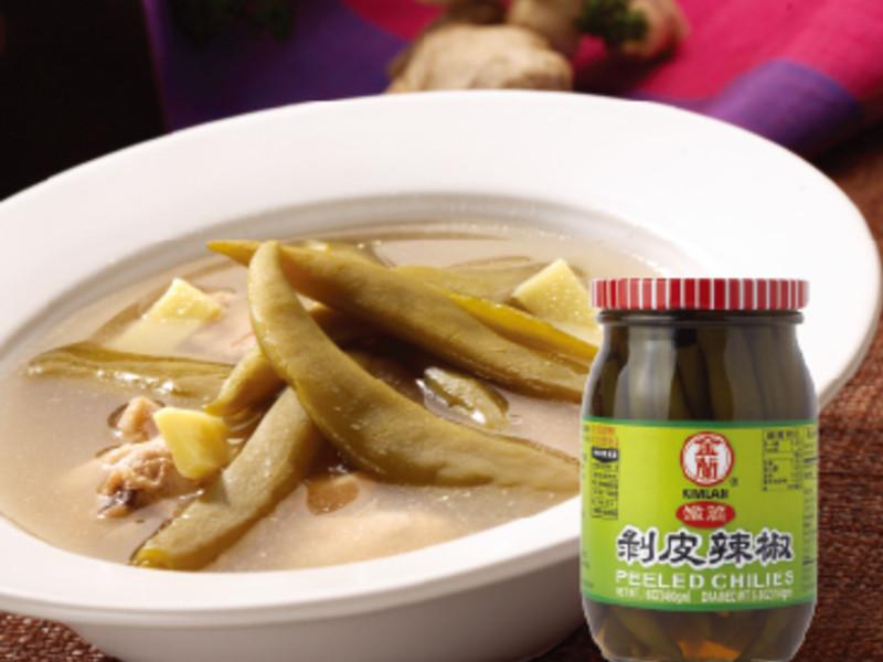 【金蘭】輕食料理類-剝皮辣椒雞湯