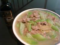【得意的一天橄欖油】肉片燴絲瓜