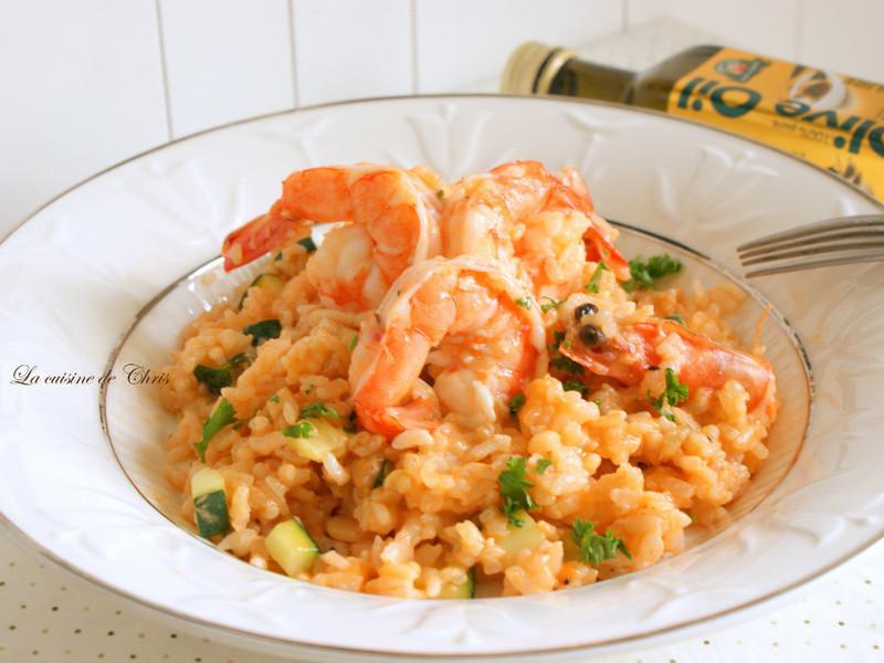 [得意的ㄧ天橄欖油] 簡易鮮蝦燉飯(ㄧ人料理)