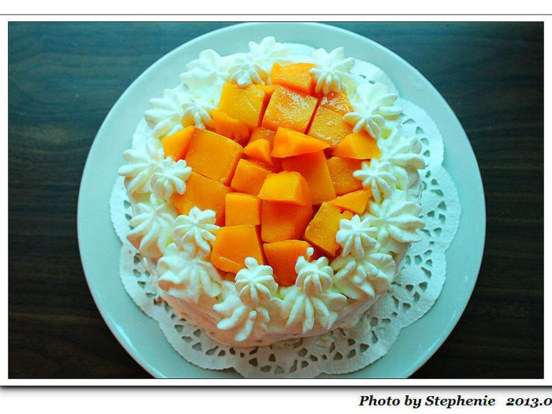 芒果布丁鮮奶油蛋糕