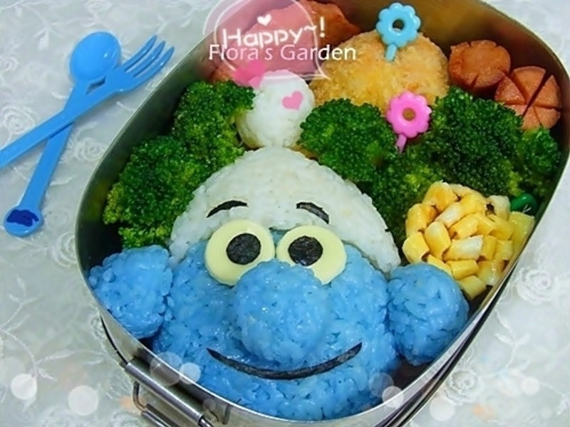 免炸可樂餅‧藍色小精靈便當