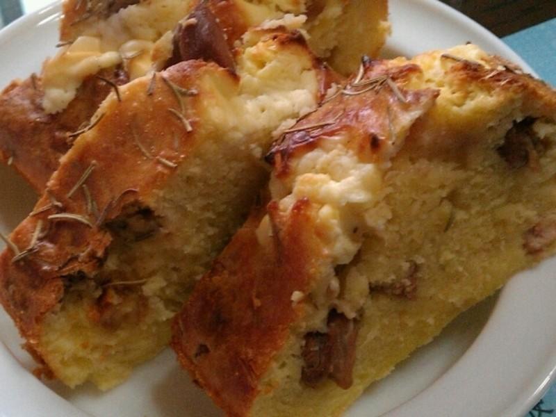雞丁核桃法式鹹蛋糕