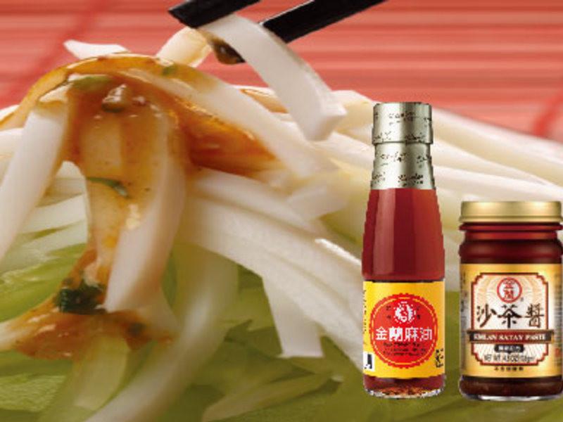 【金蘭】輕食料理類-沙茶西芹拌墨魚絲