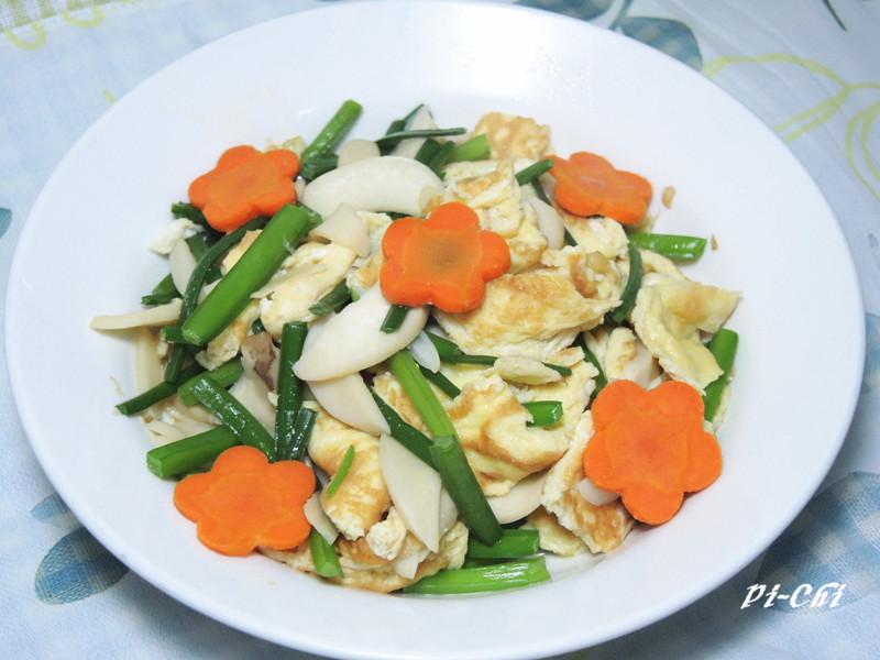 杏胞菇韭菜花蛋