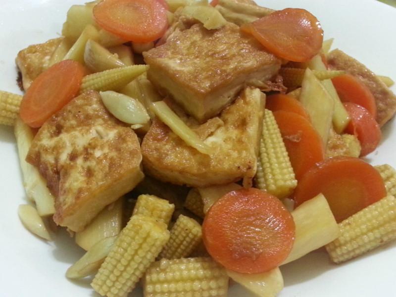 愛烹飪。醬燒豆腐家常菜