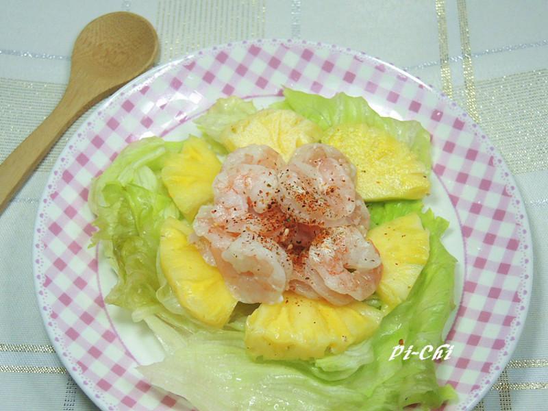 輕食和風鳳梨蝦沙拉
