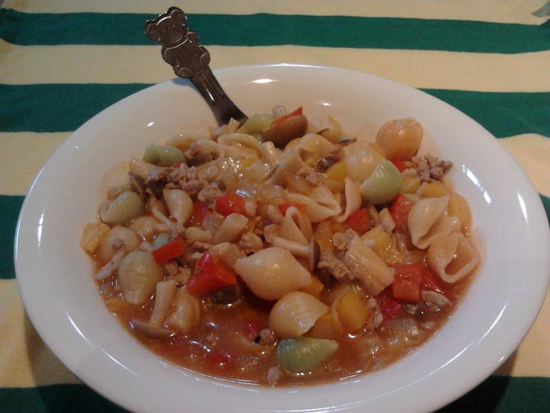 貝殼肉醬麵