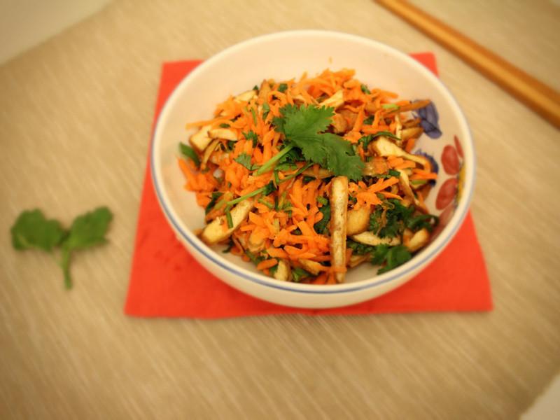香菜拌胡蘿蔔豆干
