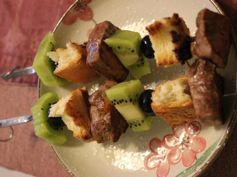 art's menu:串燒牛肉水果