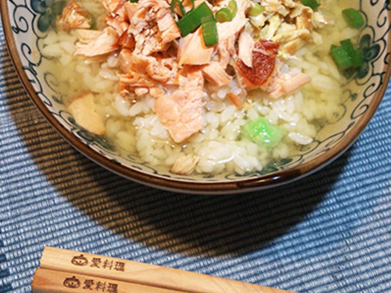 莎媽五心級料理~鮭魚茶泡飯(簡速版)