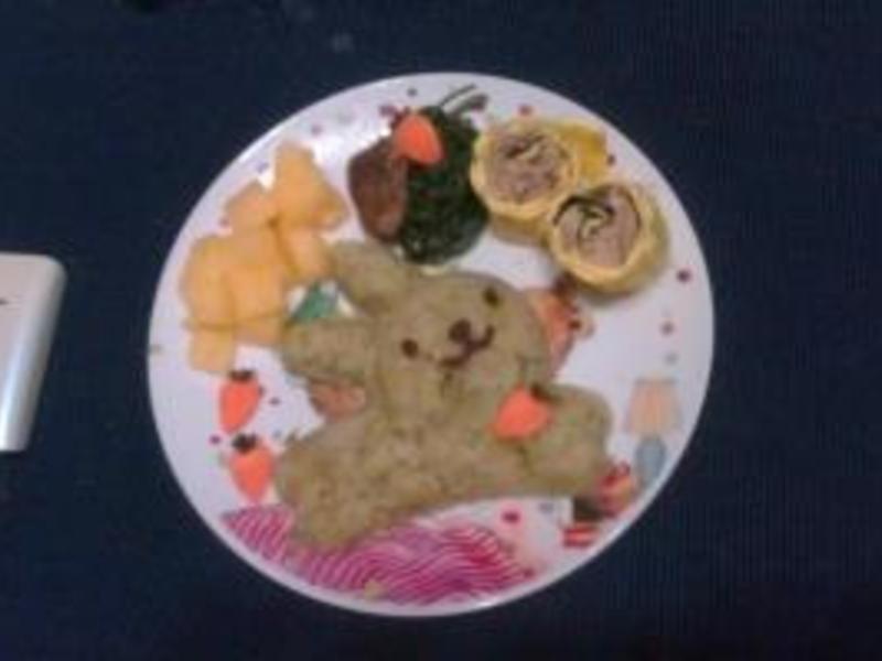 蕃薯泥伴飯