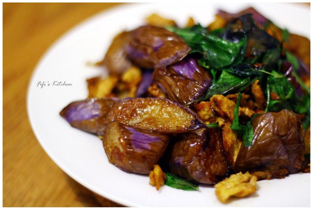 FiFi's Kitchen - 塔香蛋酥茄子