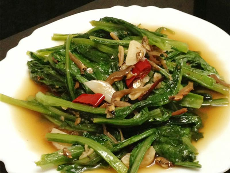 小魚辣椒炒A菜