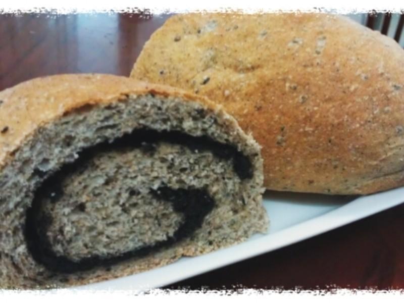 黑芝麻全麥麵包