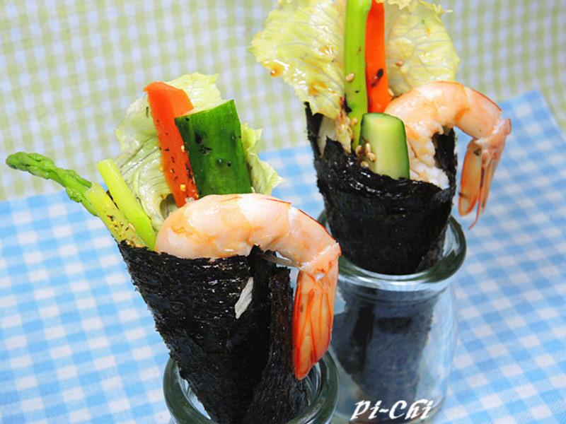 輕食-和風鮮蝦手捲