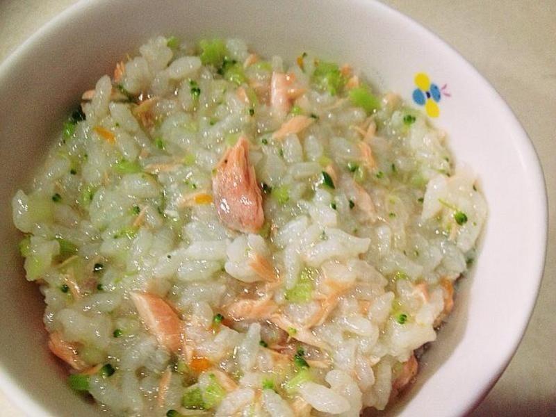 【副食品】黃花鮭女粥