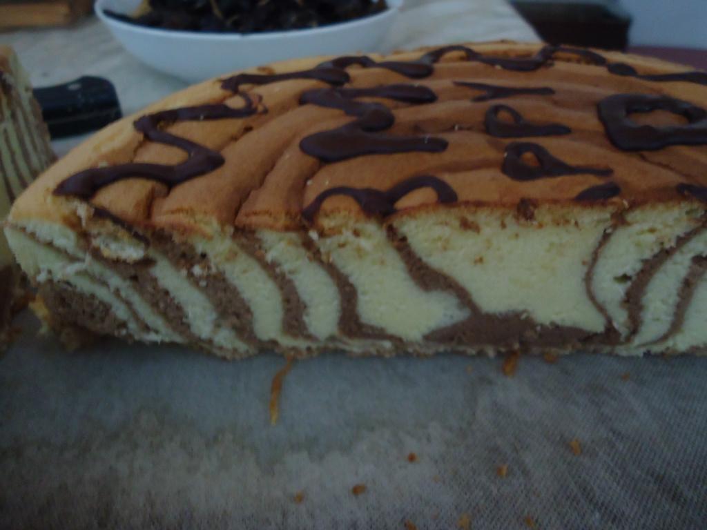 斑馬紋蛋糕(巧克力口味)