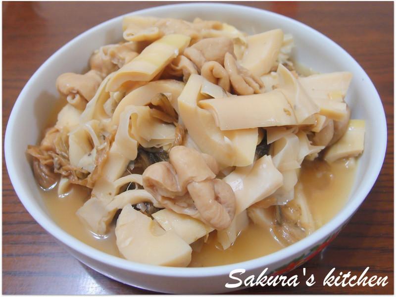 ♥我的手作料理♥ 滷肥腸桂竹筍