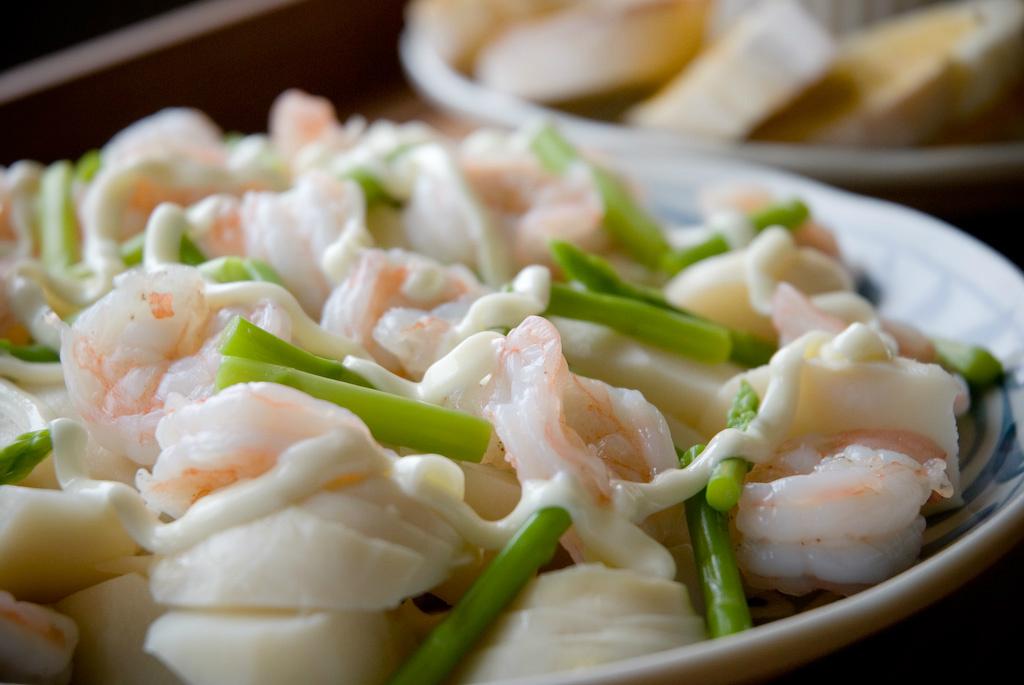 低油煙輕料理.鮮蝦涼筍沙拉