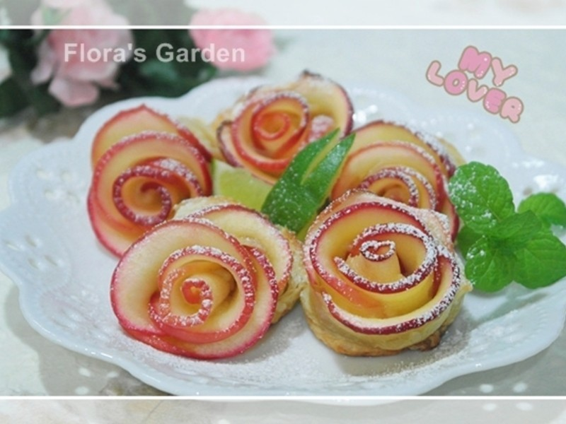 母親節快樂《蘋果玫瑰花捲》