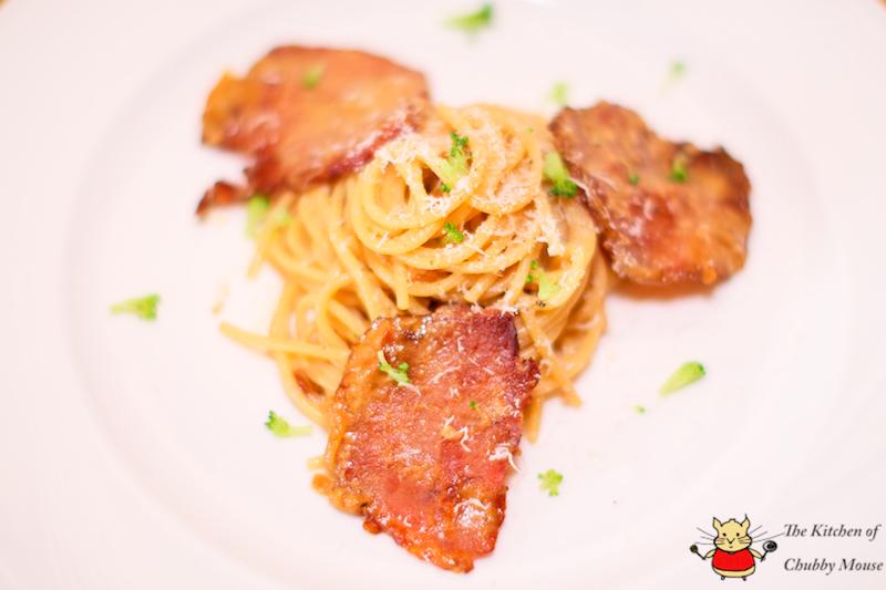 超簡單義大利麵DIY-白醬培根義大利麵