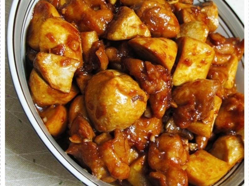 醬燒杏鮑菇雞丁