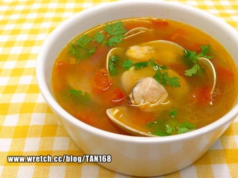 洋蔥番茄蛤蜊湯 ♪♪快手靚湯2♪♪
