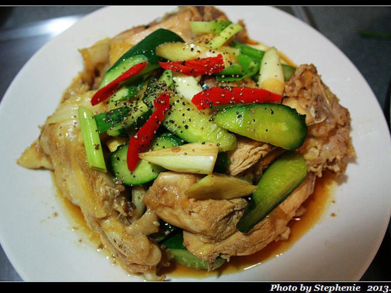 醬燒時蔬雞