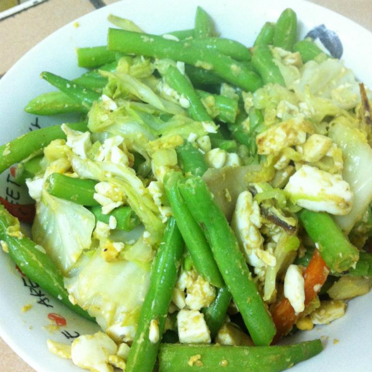 清炒鹹蛋四季豆(約400大卡)