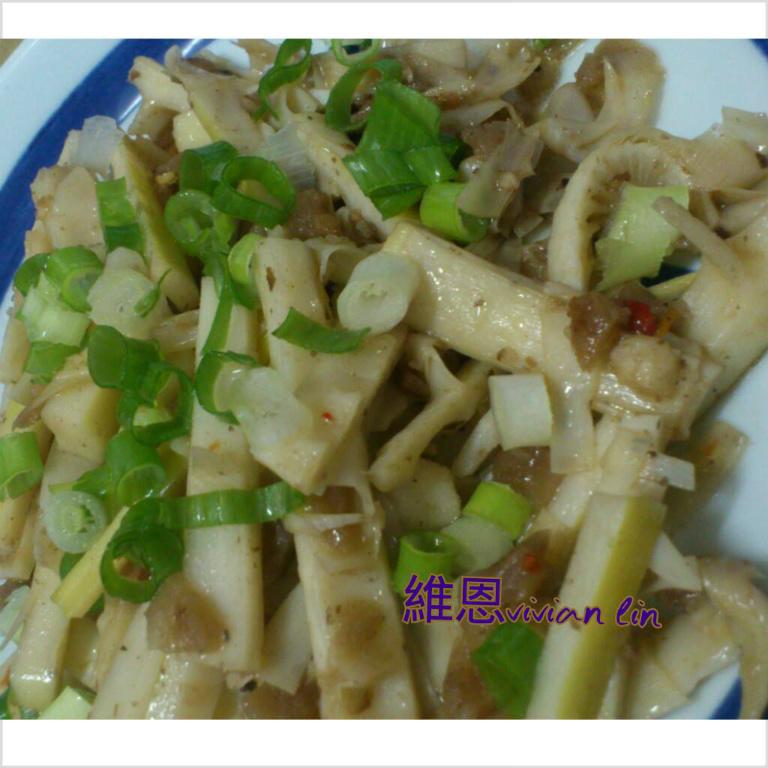 蘿蔔乾辣炒桂竹筍