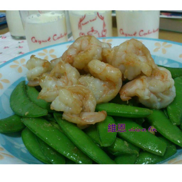 甜豆炒蝦仁