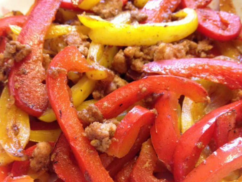 甜椒炒絞肉
