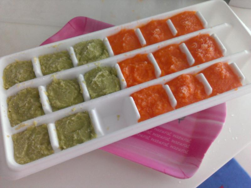 品靚上菜-寶寶副食品-毛豆泥和胡蘿蔔冰磚
