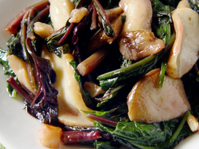 【厚生廚房】(原生蔬菜)蒜炒青葙杏鮑菇