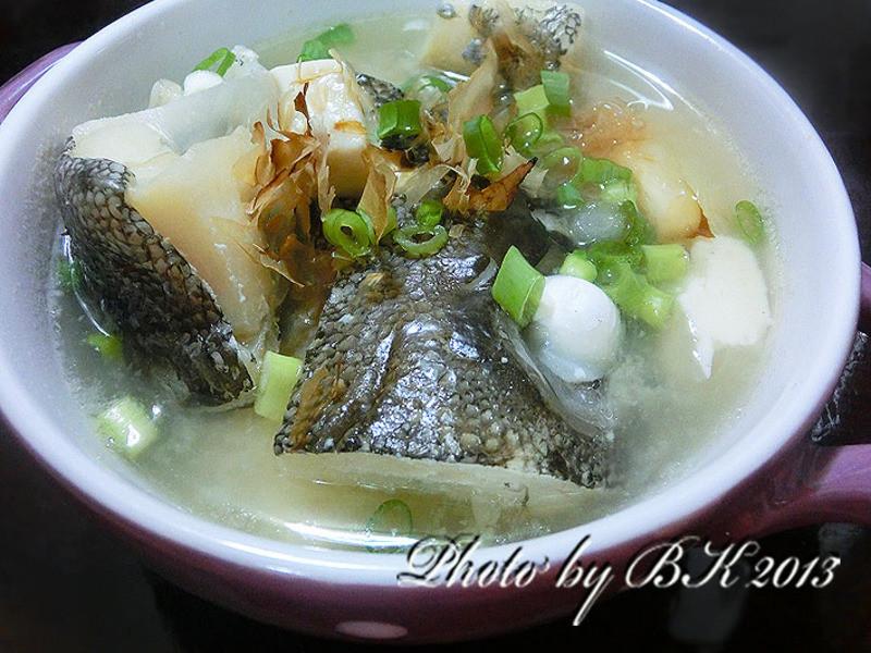 豆腐味噌魚湯