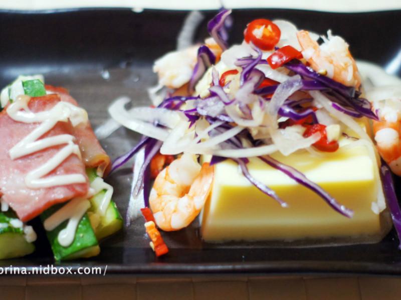 桂冠夏至涼拌~泰式酸辣芙蓉豆腐伴小黃瓜培根沙拉