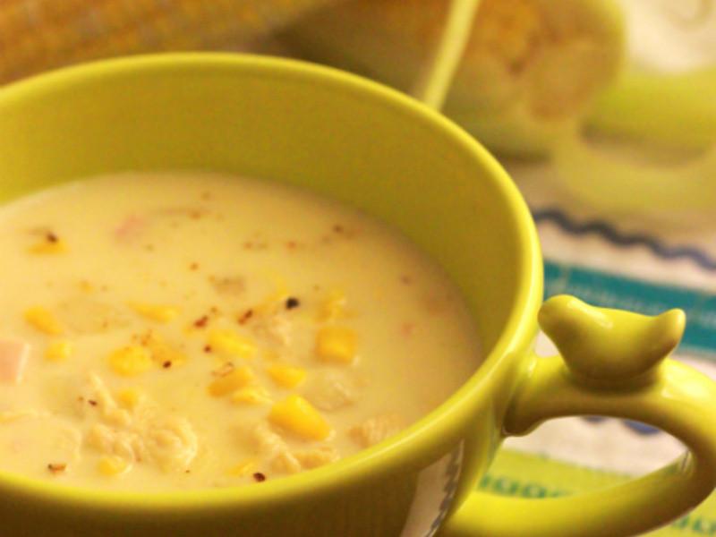 法式奶油雞蓉火腿玉米濃湯