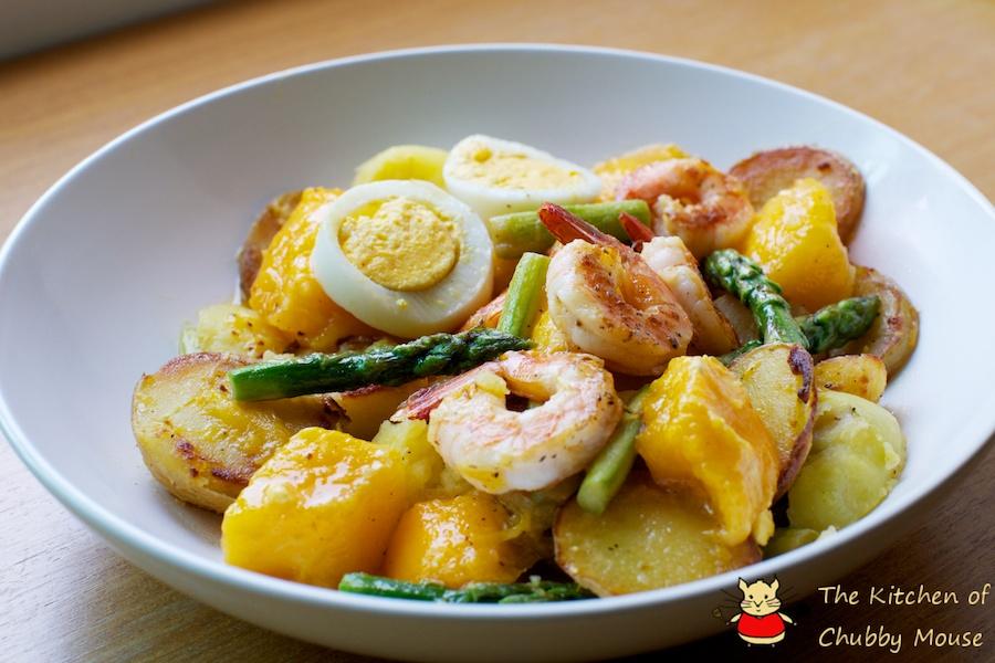 開胃的夏日午餐 - 鮮蝦芒果沙拉