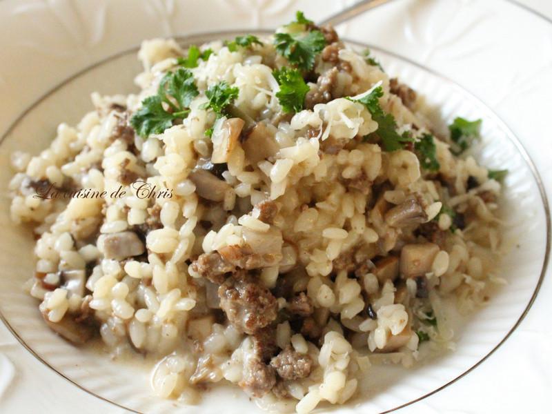 蘑菇牛肉燉飯