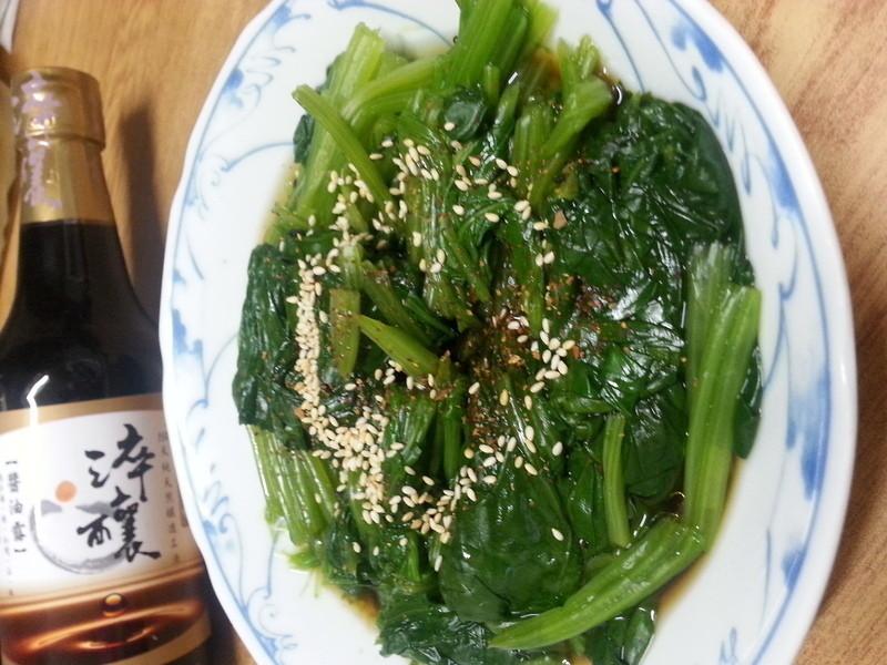 涼拌長年菜(菠菜)