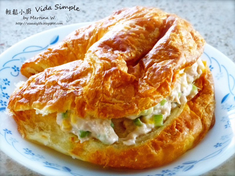 快速早餐-鮪魚沙拉可頌