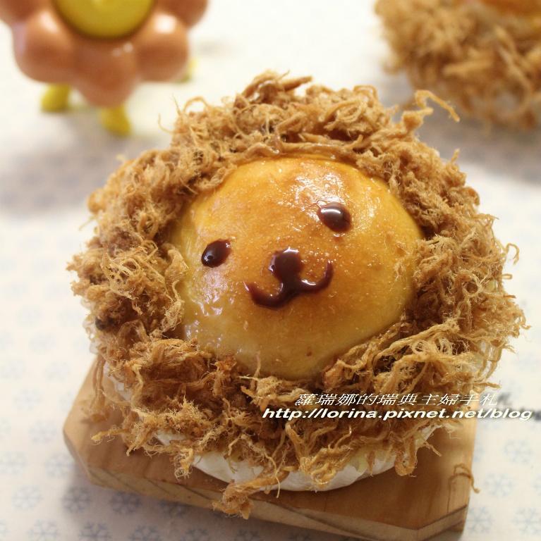 [瑞典主婦這樣教那樣煮孩子不挑食]太陽獅子肉鬆麵包