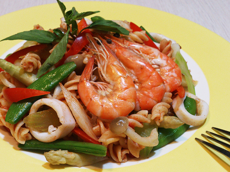 【Classico義遊味境】(超速版)方便醬海鮮蔬義大利涼麵~莎媽五心級料理