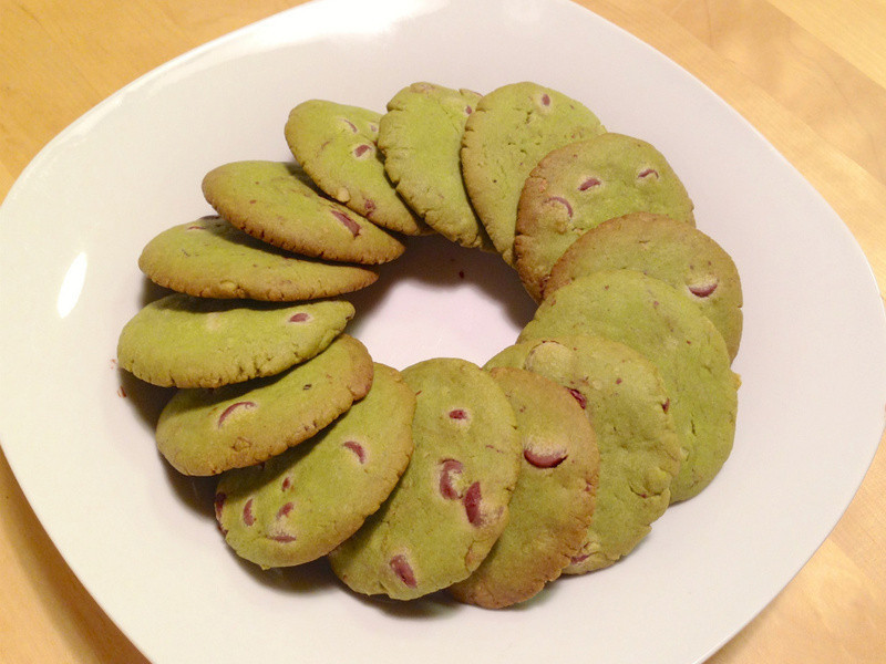 抹茶巧克力手工餅乾 Meiji green tea cookies