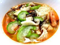 夏日開胃料理~鮮蝦絲瓜海鮮麵