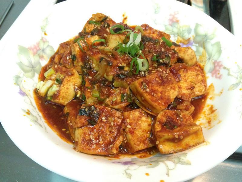[韓式] 辣醬燒豆腐 두부매운양념조림