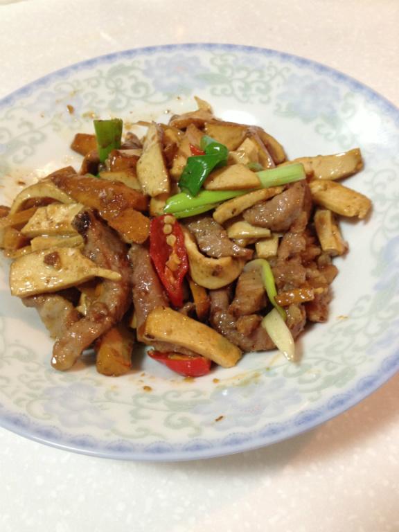 [快炒料理]豆乾炒肉絲-很下飯的菜